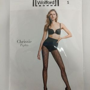 Wolford Chrissy Argyle Tights Noisette Size Small